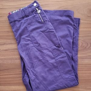Koi Purple Scrub Pants Size Medium Petite